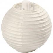 Creativ Company Papperslampa, dia. 7,5 cm, 10 st., vit