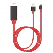 Universal Type-C to HDMI Adapter - 2m - Red