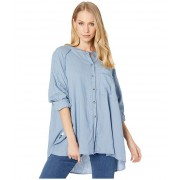 Free People Keep It Simple Button Down Blue
