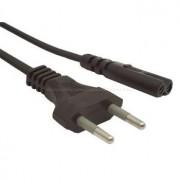 220V hálózati kábel notebook, borotva 2 eres nem árnyékolt tápegység kábel (villás csatlakozású Táp kábel IEC320-C7) borotvakábel