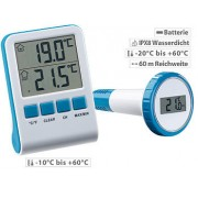 Digitales Teich- und Poolthermometer mit LCD-Funk-Empfänger, IPX8 | Poolthermometer