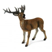 CollectA Woodlands Red Deer Stag Toy Figure - Authentic Hand Painted Model