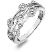 Hot Diamonds Inel de argint de lux cu topaz și diamant Willow DR207 59 mm