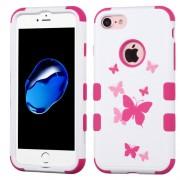 Funda Protector Triple Layer Uso Rudo Iphone 7 Blanco Mariposas