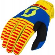Scott 350 Track Motokrosové rukavice 2017 S červená žlutá
