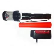 Lanterna LED 1W reincarcabila 3in1 cu Con de Semnalizare