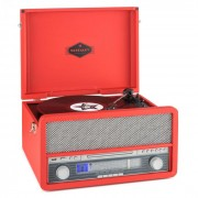 Auna Epoque 1907, retro audio rendszer, gramofon, bluetooth, MC, USB, CD, AUX (TTS9-Epoque 1907 RD)