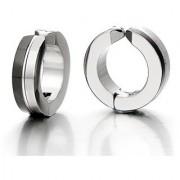 GadgetsDen Two tone Clip-on Stud Non-piercing hoop earrings Unisex