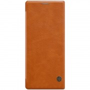 NILLKIN Qin Series Leather Card Holder Case for Sony Xperia 10 Plus - Brown