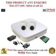 Cp Plus 2.4 MP Full HD 4CH DVR + Cp plus HD Dome IR CCTV Camera 2Pcs + 1TB HDD + POWER SUPLAY + BNC + DC CCTV COMBO