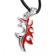 Gyűrűk Ura piros-ezüst nyaklánc