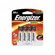 Pilas Alcalina AA Con 4 Pilas Energizer Max