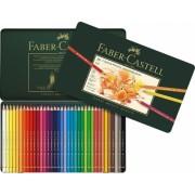 Creioane colorate Polychromos, cutie metal, 36 culori/set Faber-Castell