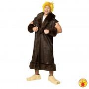 Barney Rubble kostuum - Donkerbruin en geel