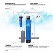 VIPECO Готовая станция умягчения воды 2,0 куб.м/ч (блоком управления Clack США)