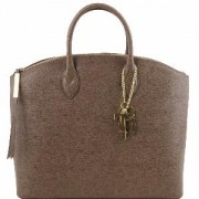Sac Cuir Mode Femme Nouvelle Collection Taupe -Tuscany Leather-