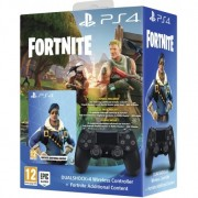 Mando Sony Dualshock Negro V2+Fortnite PS4 Inalámbrico