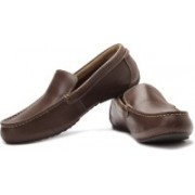 Clarks Marcos Flow Genuine Leather Slip On Shoes For Men(Brown)