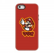 Nintendo Funda móvil Nintendo Super Mario Mario Kanji para iPhone y Android - iPhone 5/5s - Carcasa doble capa - Brillante