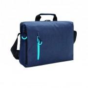Geanta laptop 15.6 inch, fara PVC, XD by AleXer, JU009, poliester, albastru, breloc inclus