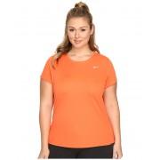 Nike Miler Short-Sleeve Running Top (Size 1X-3X) Turf Orange