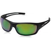 Revo Guide S Polarized Rectangular Sunglasses, Matte Black/Green Water, 63 mm
