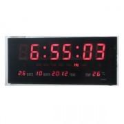 IP-LD-3615 - Дигитален LED диоден стенен часовник с термометър