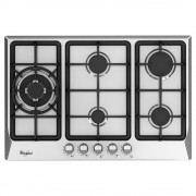 parrilla empotrable a gas natural whirlpool wp3040s acero