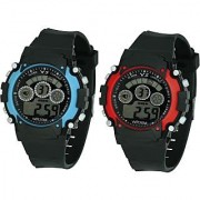 Crude Smart Combo Digital Watch-rg529 With Adjustable PU Strap - for Boy's Kid's