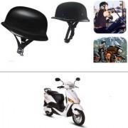 AutoStark German Style Half Helmet Matte Black) for Hero Electric Optima
