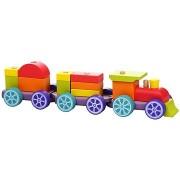 Cubika 12923 Szivárványos vonat két kocsival