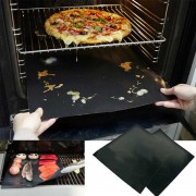 2 Pack BBQ Ovenmatten – Hittebestendig Tot 290 Graden – Vaatwasser bestendig – Zwart