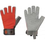 Black Diamond Crag Half-Finger Handschoenen grijs/oranje XS 2017 Klettersteig handschoenen