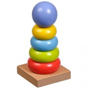 Baybee Premium Wooden Color- Stacking Toyset Wooden Toy / Educational Toy for Children (Stack Donut)