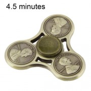 Cents Pattern Fidget Spinner Toy Stress Reducer Anti-Anxiety Toy for Children and Adults 4.5 Minutes Rotation Time Silicon Nitride Ceramics Beads Bearing Three Leaves(Army Green)