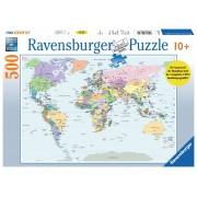 Legpuzzel Wereldkaart 500 stukjes CITO | Ravensburger