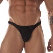 Don Moris Transparent Printed Fabric Thong Underwear DM031753
