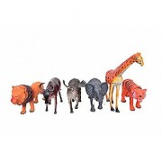 ANABGI Zoo Wild Animal Figure Toy Set for Kids Medium Size Pack of 6