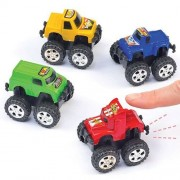 Baker Ross Pullback Monster Trucks - 5 Pullback Toys In Assorted Colours. Pull Back And Go Toys. Party Bag Fillers. Size 5cm.