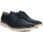 Clarks Gambeson Style Navy Leather Lace Up For Men(Blue)