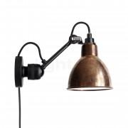 DCW Lampe Gras No 304 CA Applique noire, cuivre brut/blanc