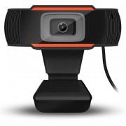 Cámara giratoria HD 720P Webcam Cámara USB para grabación de vídeo de la cámara negro+naranja