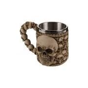 Merkloos Drink beker met doodshoofden