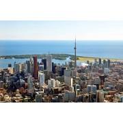 Jigsaw Puzzle Skyscrapers Cn Tower Toronto Ontario Canada 1000-Pieces By Arts Puzzles