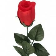 Shoppartners Rode Rosa/roos kunstbloem 60 cm