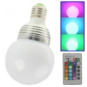 E27 5W RGB Flash LED Light Bulb with Remote Controller AC 85-265V Luminous Flux: 420-480lm