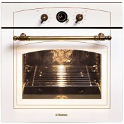 Cuptor electric incorporabil Hansa BOEW68120090, clasa A, 66 litri, ceas analog, alb, retro