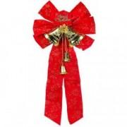 Decoratiune funda rosie clopotei aurii Craciun