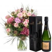 Interflora Bouquet Velours et son champagne Devaux