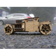 Bone shaker wooden sports car 3D Puzzle assembly kit.